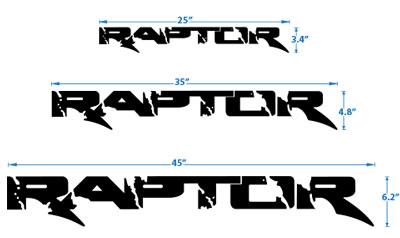 400x238 Raptor Vinyl Truck Decals