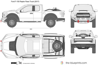 400x264 Ford F 150 Raptor Race Truck Vector Drawing