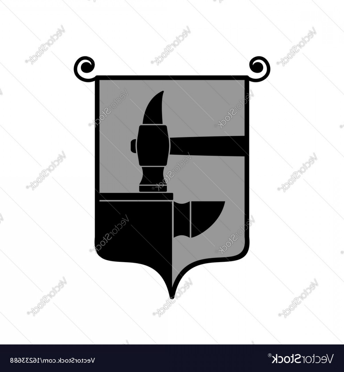 1200x1296 Forge Logo Smithy Symbol Hammer And Anvil Emblem Vector Lazttweet