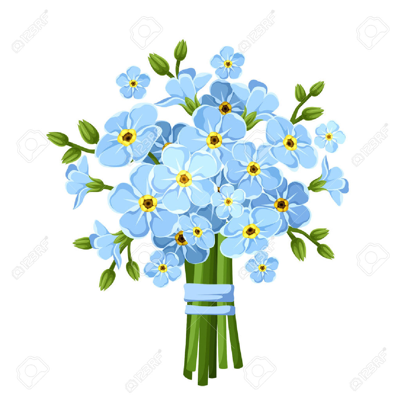 1300x1300 Free Clip Art Forget Me Not Flowers