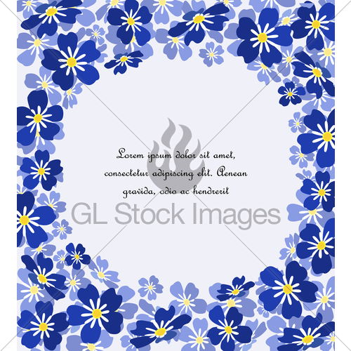 500x500 Vector Blue Forget Me Not Flowers Gl Stock Images