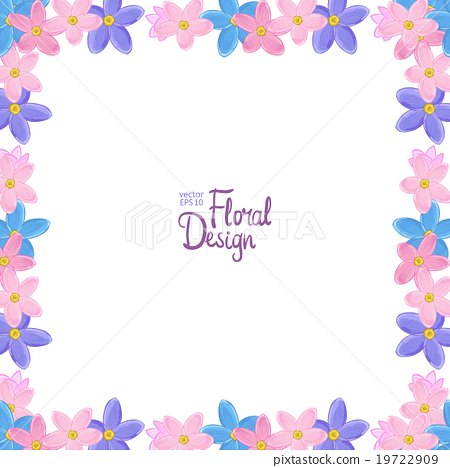 450x468 Vector Border With Forget Me Not Flowers