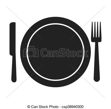 450x443 Fork Knife Dish Cutlery Silhouette Icon Vector Isolated Graphic.