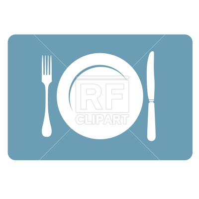 400x400 Plate, Fork And Knife Vector Image Vector Artwork Of Food And