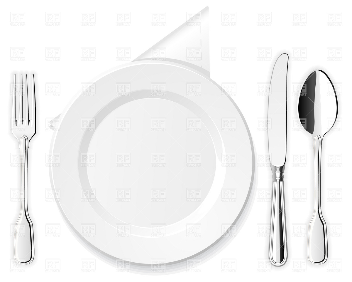 1200x960 Plate, Knife, Spoon And Fork Vector Image Vector Artwork Of Food