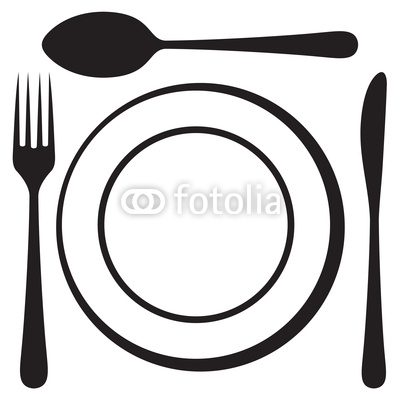 400x400 Plate Fork And Knife Clipart