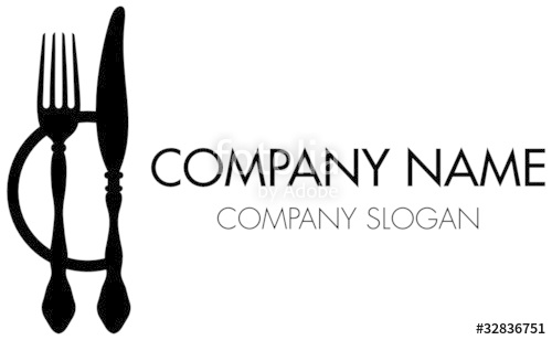 500x308 Abstract Company Logo Fork, Knife Amp Plate Stock Image And Royalty