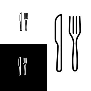 300x300 Stock Illustration Set Cutlery Vector Spoon Fork Knife Hand