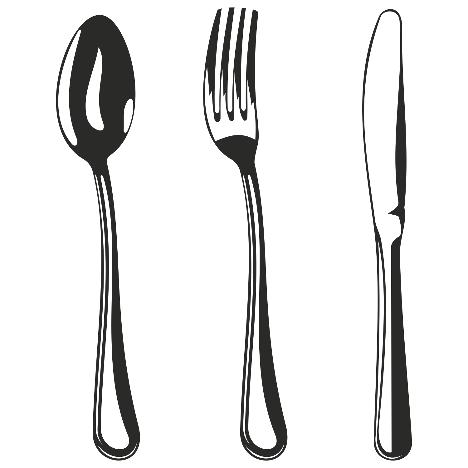 1500x1500 Vector For Free Use Spoon, Fork And Knife