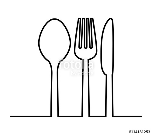 500x446 Fork, Knife And Spoon Icon. Cutlery And Menu. Vector Graphic