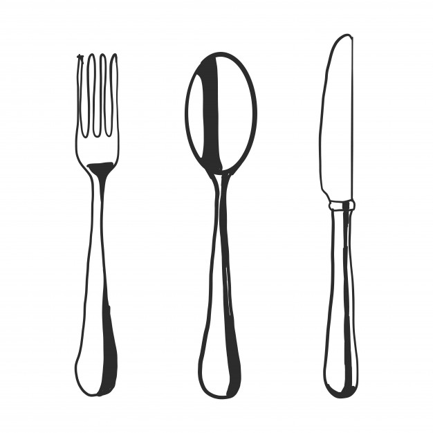 626x626 Doodle Fork Spoon Knife Vector Free Download