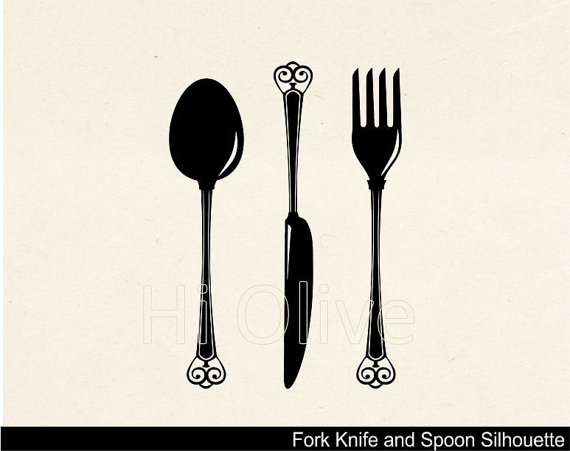 570x451 Fancy Fork Clipart Black And White Amp Fancy Fork Clip Art Black And