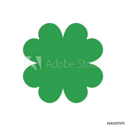 500x500 Four Leaf Clover. Vector Icon. St Patricks Day. Clover Silhouette