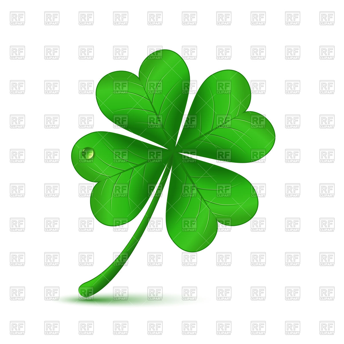 1200x1200 Four Leaf Green Clover Vector Image Vector Artwork Of Plants And