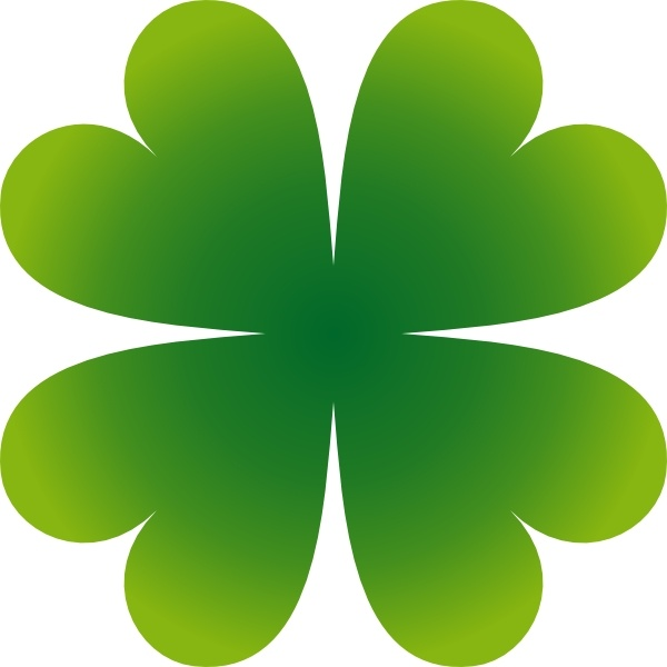 600x600 Pierig Four Leaf Clover Clip Art Free Vector In Open Office
