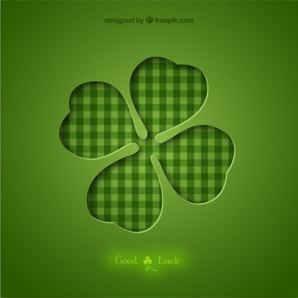 600x600 Four Leaf Clover Background Free Vector Free Vectors Ui Download