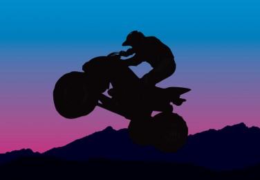 376x260 Four Wheeler Rider Vector Silhouette