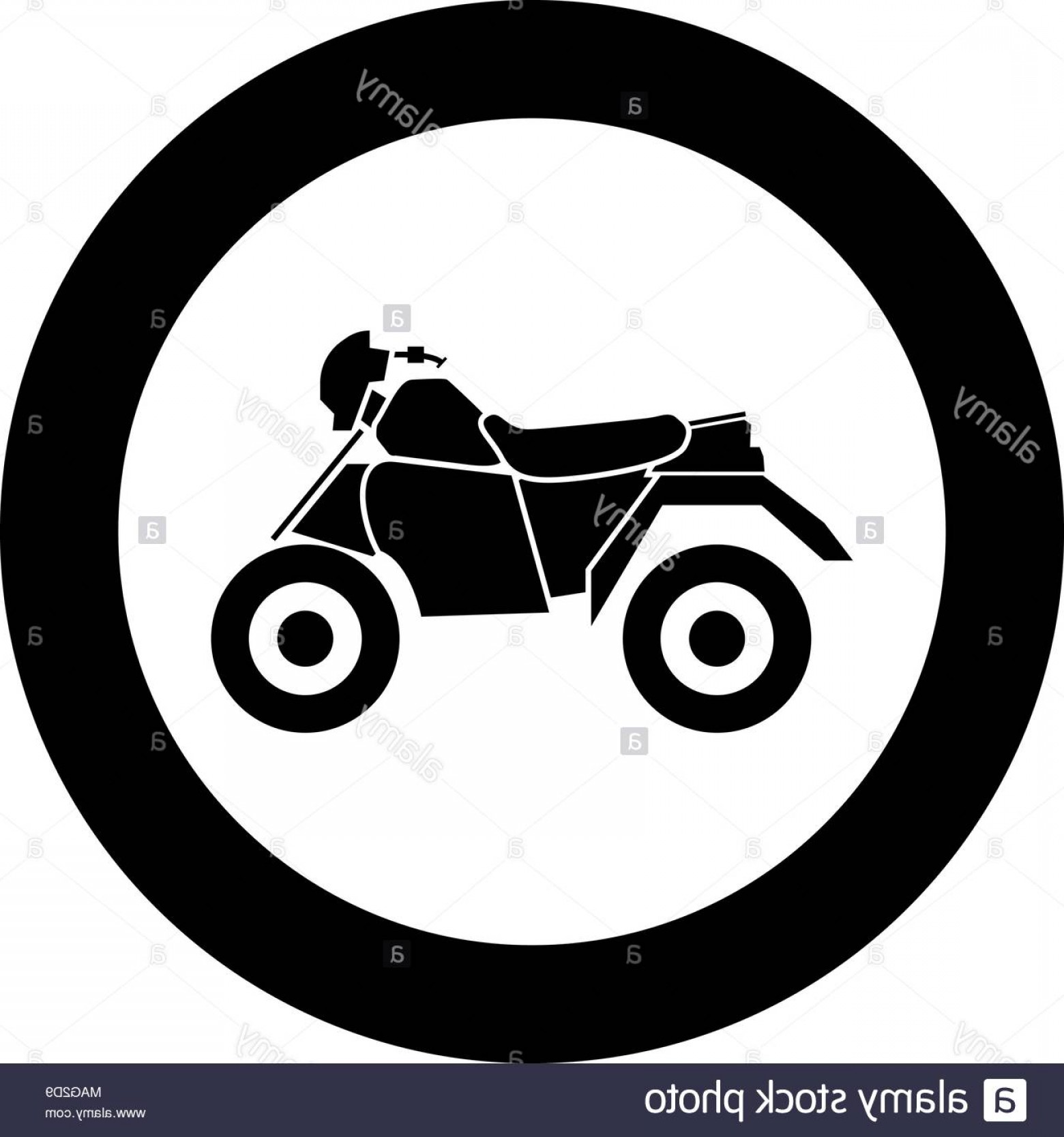 1560x1668 Atv Motorcycle On Four Wheels Black Icon In Circle Vector