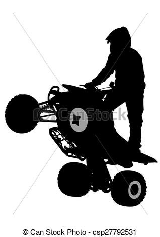 318x470 Atv Racing Clipart