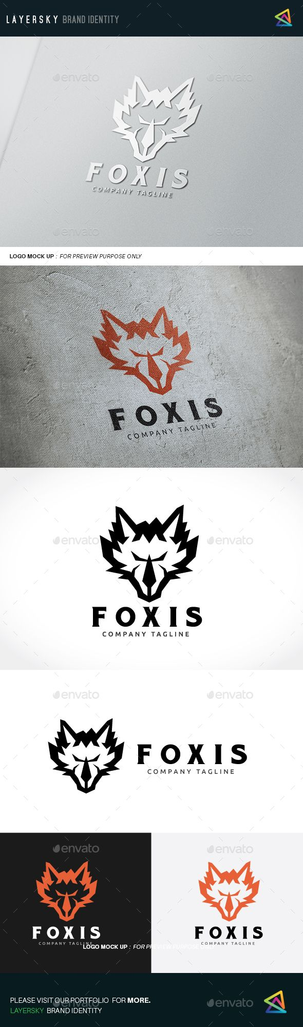 590x1996 Fox Logo Vector Eps
