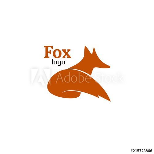500x500 Vector. Fox. Business Icon For The Company. Logo For Pet Shop