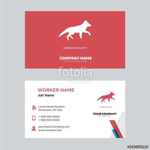 500x500 Running Fox Business Card Design Stock Image And Royalty Free