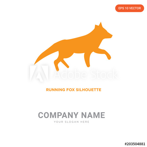 500x500 Running Fox Company Logo Design
