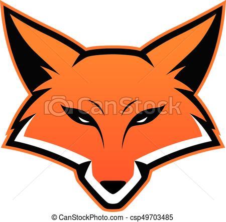 450x443 Fox Head Mascot. Clipart Picture Of A Fox Head Cartoon Mascot Logo