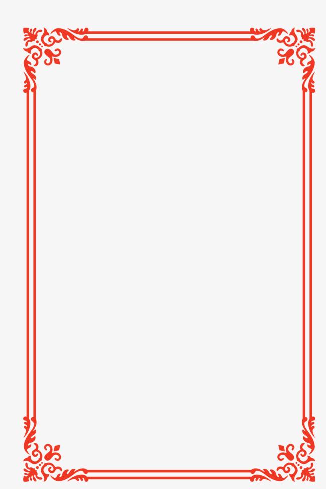 650x976 European Lace Red Festive Year Frame Border Vector, European Style