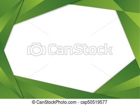 450x337 Green Triangle Frame Border. Green Gradient Triangle Frame Border