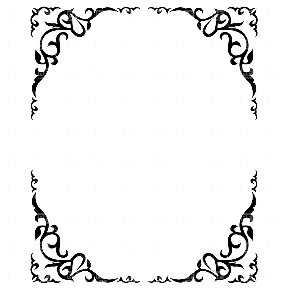 1200x1200 Vector Set Of Abstract Frames Borders 12