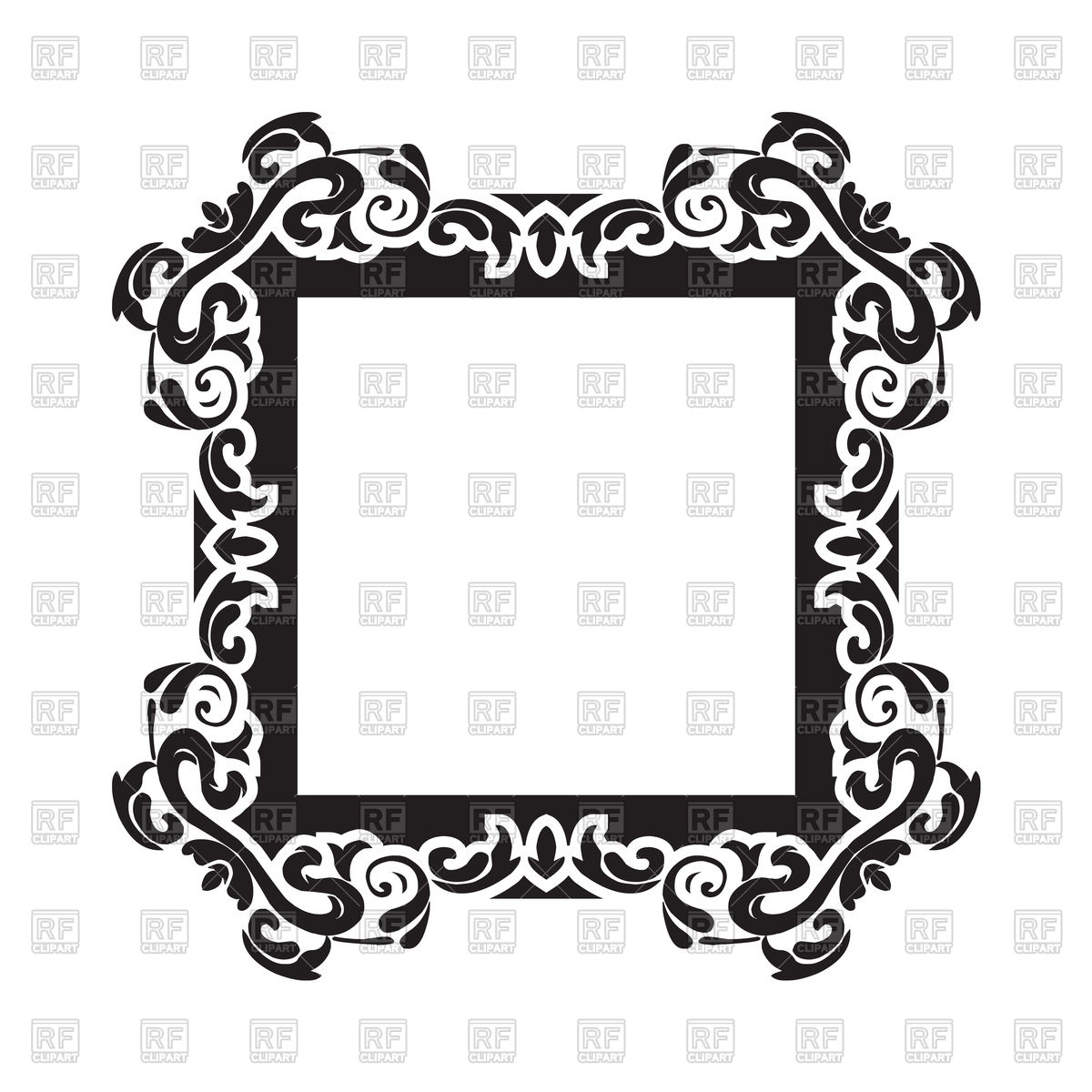 1200x1200 Vintage Frame Border Vector Image Vector Artwork Of Borders And