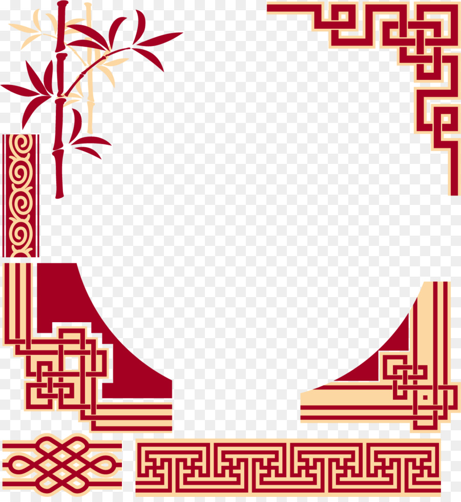 900x980 China Chinese Cuisine Picture Frame Pattern