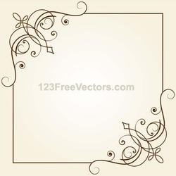 250x250 Free Retro Frame Design Vector Image.eps Psd Files, Vectors