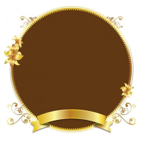 468x468 Gold Design Vector Golden Frame Background Vectors Stock For Free