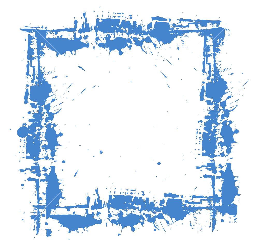 1000x956 Grunge Splatter Frame Design Vector Royalty Free Stock Image