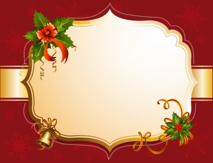 425x325 Red Christmas Frame Vector Design Free Download