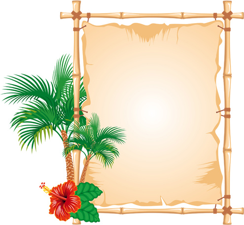 495x457 Set Of Different Of Bamboo Frame Design Vector Free Vector In