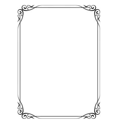380x400 Simple Ornamental Decorative Frame Vector 691861