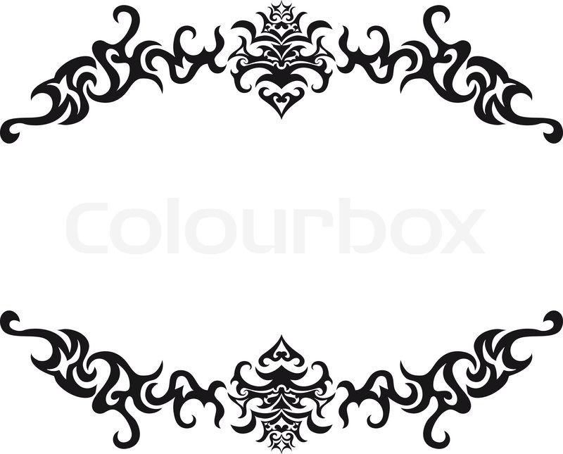 800x645 Abstract Gothic Vector Frame For Design Use Stock Vector Colourbox