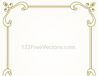 404x316 Vintage Gold Frame Design Vector Graphics On Behance