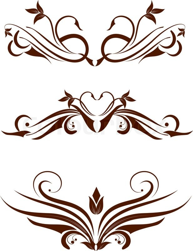 617x800 Vintage Frame, Ornament And Element For Decoration And Design