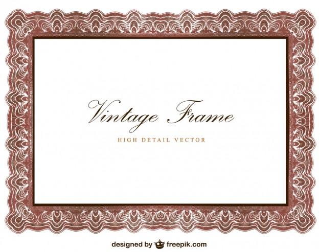 626x493 Vintage Frame Design Vector Free Download