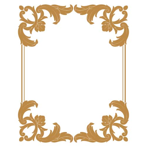 500x500 Classical Baroque Style Frame Vector Design 09 Free Download