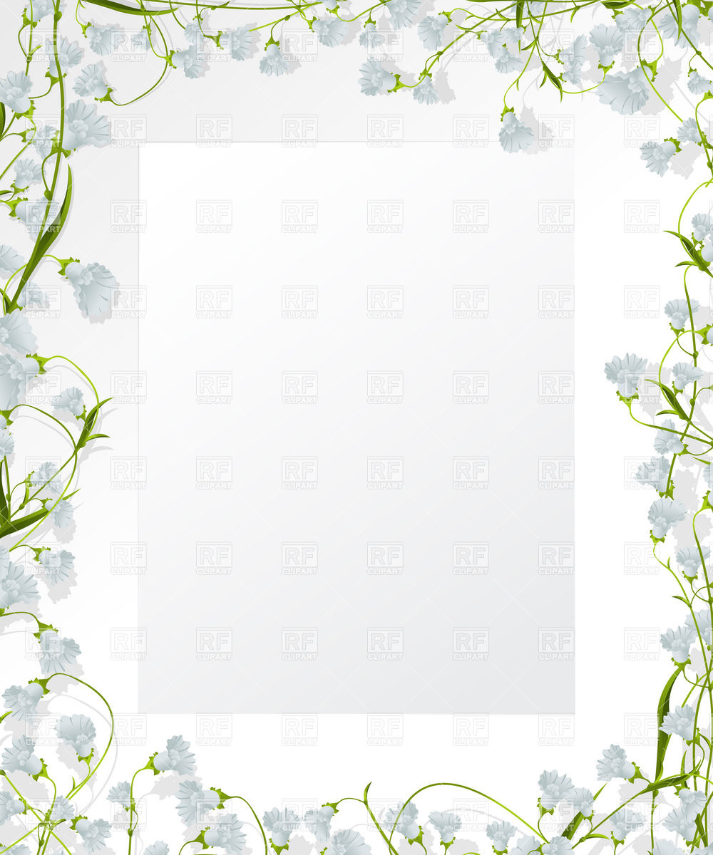1000x1200 Decorative Floral Frame Design Vector Image Vector Artwork Of