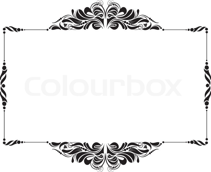 800x655 Decorative Frame For Design In Vintage Styled No Title Stock