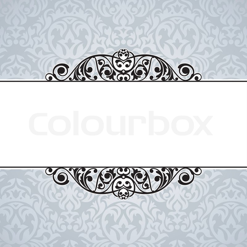 800x800 Abstract Cute Decorative Vintage Frame Vector Illustration Stock