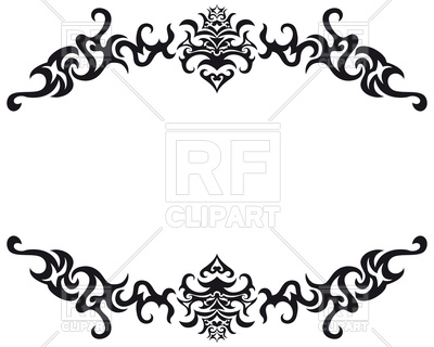 400x320 Abstract Vintage Frame Vector Image Vector Artwork Of Borders