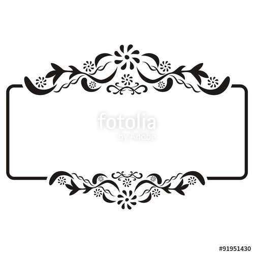 500x500 Square Vintage Frame Vector Stock Image And Royalty Free Vector
