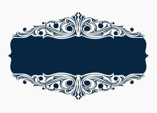 539x388 Beautiful Blue Floral Frame Vector 01 Free Download